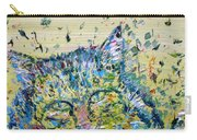 Cat In The Grass Carry-all Pouch