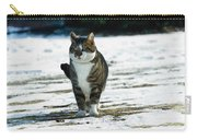 Cat In The Snow Carry-all Pouch