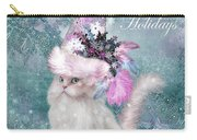 Cat In The Snowflake Santa Hat Carry-all Pouch