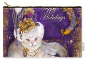 Cat In Victorian Santa Hat Carry-all Pouch