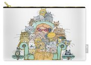 Cat Lady - In Chair Carry-all Pouch by Mag Pringle Gire