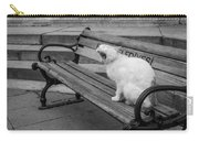 Cat On A Bench Carry-all Pouch