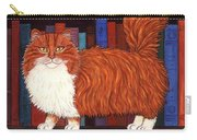 Cat On Book Shelf Carry-all Pouch