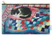 Cat On Pink  Carry-all Pouch