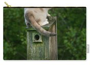 Cat Perched On A Bird House Carry-all Pouch