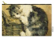 Cat With A Basket Carry-all Pouch