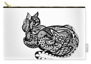 Cat With Design Carry-all Pouch