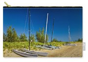 Catamaran Sailboats On The Beach At Muskegon No. 601 Carry-all Pouch