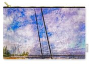 Catamarans At The Lake Carry-all Pouch by Debra and Dave Vanderlaan