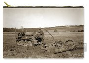 Caterpillar Sixty Working A Field  Circa 1930 Carry-all Pouch
