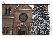 Cathedral Basilica Of St Francis In Snow Carry-all Pouch