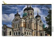 Cathedral In Tallinn Carry-all Pouch by David Smith