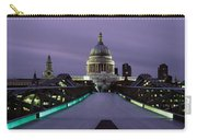 Cathedral Lit Up At Night, St. Pauls Carry-all Pouch