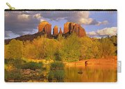 Cathedral Rock Reflected In Oak Creek Carry-all Pouch by Tim Fitzharris