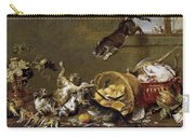 Cats Fighting In A Larder Carry-all Pouch