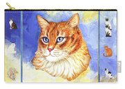 Cats Purrfection Five - Orange Tabby Carry-all Pouch