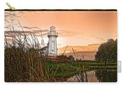 Cattails And Lighthouse In Indiana Carry-all Pouch