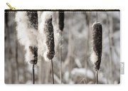 Cattails In Winter Carry-all Pouch by Elena Elisseeva
