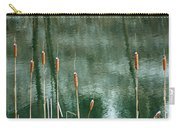 Cattails On Green Carry-all Pouch