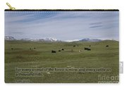 Cattle And Bible Verse Carry-all Pouch