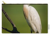 Cattle Egret On Stick Carry-all Pouch