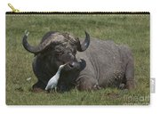 Cattle Egret With Cape Buffalo Carry-all Pouch
