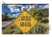 Cattle Guard Road Sign Carry-all Pouch