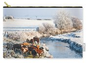Cattle In Winter Carry-all Pouch