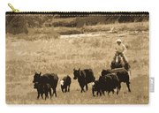 Cattle Round Up Sepia Carry-all Pouch