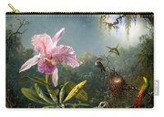 Cattleya Orchid And Three Brazilian Hummingbirds Carry-all Pouch