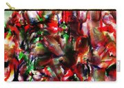Caught In The Crowd Two Water Color And Pastels Wash Carry-all Pouch