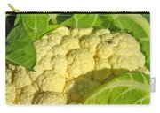 Cauliflower With A Visitor. Square Format Carry-all Pouch
