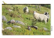 Cautious Sheep In The Pasture Carry-all Pouch