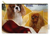 Cavalier King Charles Spaniel Art - Moon Over Miami Movie Poster Carry-all Pouch