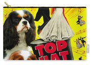 Cavalier King Charles Spaniel Art - Top Hat Movie Poster Carry-all Pouch