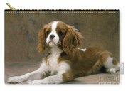 Cavalier King Charles Spaniel Dog Lying Carry-all Pouch
