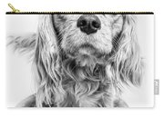 Cavalier King Charles Spaniel Puppy Dog Portrait Carry-all Pouch