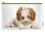 Cavapoo Puppy And Roborovski Hamster Carry-all Pouch