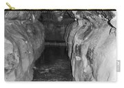 Cave Entrance Black And White Carry-all Pouch