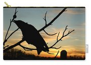 Cawcaw Over Sunset Silhouette Art Carry-all Pouch