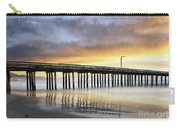 Cayucos Pier Reflected Impasto Carry-all Pouch