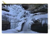 Cedar Falls In Winter At Hocking Hills Carry-all Pouch