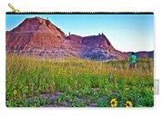 Cedar Pass At Dusk In Badlands National Park-south Dakota Carry-all Pouch