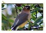 Cedar Waxwing In Tree 030515a Carry-all Pouch