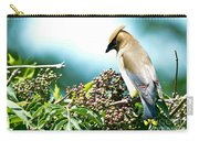 Cedar Waxwing Pose Carry-all Pouch