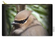 Cedar Waxwing Profile Carry-all Pouch