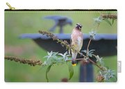 Cedar Waxwing Square Carry-all Pouch