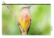 Cedar Waxwing Watercolor Art  Carry-all Pouch
