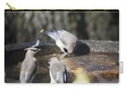 Cedar Waxwings Squared 2 Carry-all Pouch