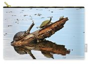 Happy Family Of Turtles Carry-all Pouch